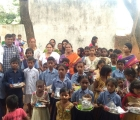Celebrating India Independence Day with children In Hydrabad schools